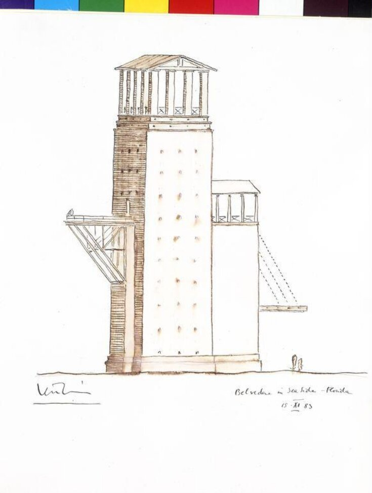Sketch design for a Belvedere in Seaside, Florida top image