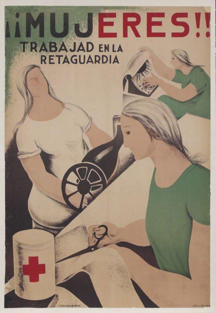 ¡¡Mujeres!! Trabajad En La Retaguardia top image
