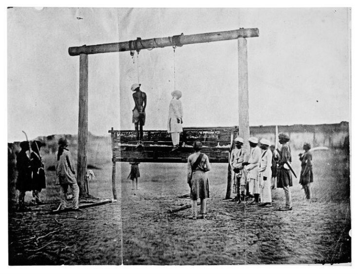Execution of two Indian mutineers top image