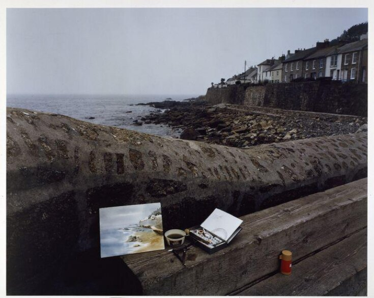 Painting by a man from Chicago on a painting holiday, Mousehole top image
