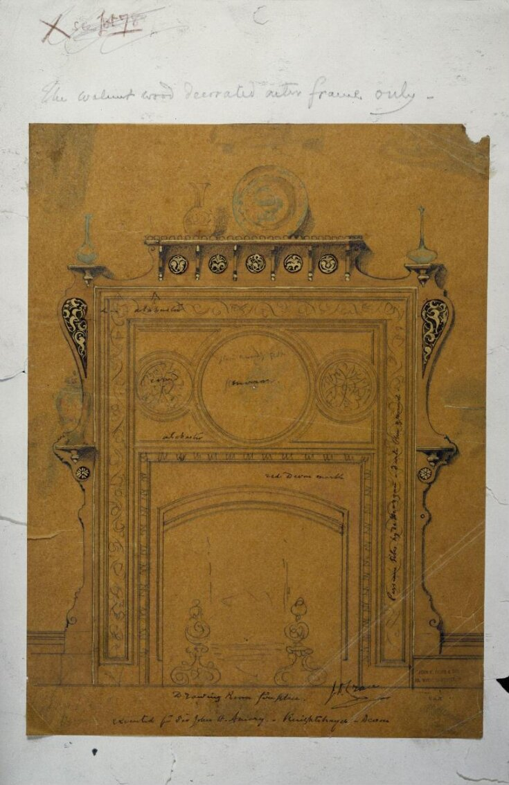 Design for a fireplace top image
