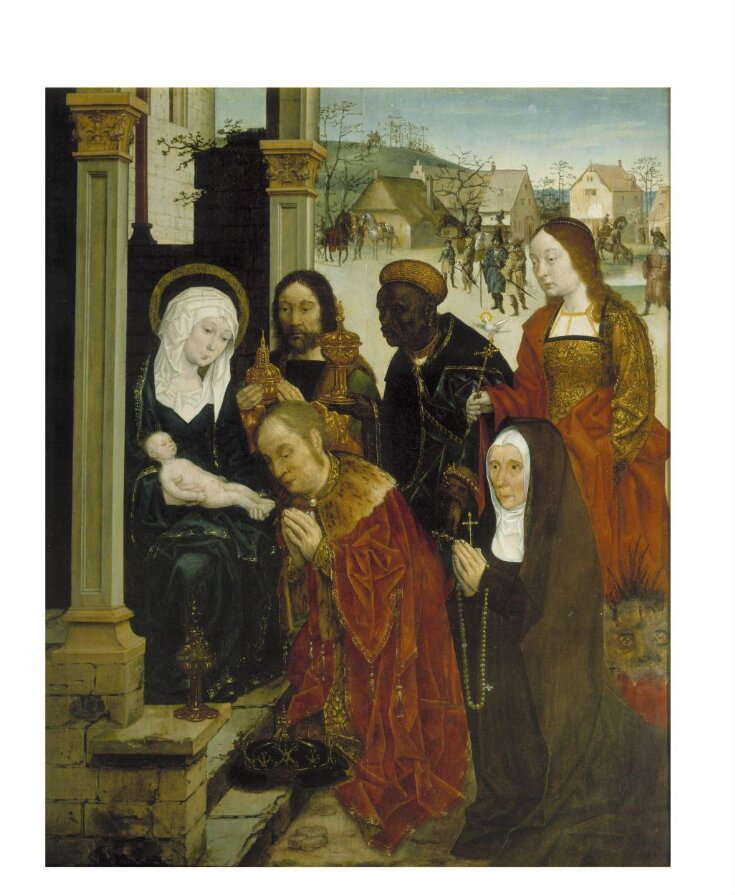 The Adoration of the Magi with St Margaret and a Nun top image