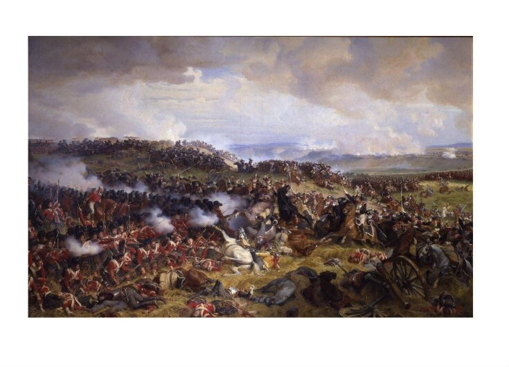 The Battle of Waterloo: The British Squares Receiving the Charge of the French Cuirassiers top image