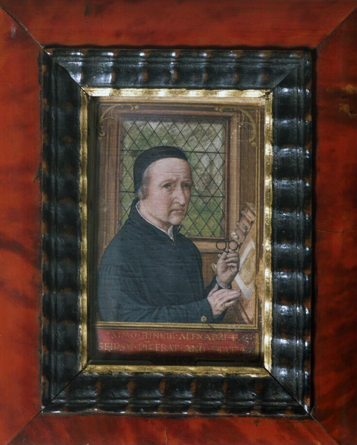 Self-portrait of Simon Bening, aged 75 in 1558 top image