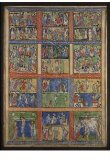 Leaf from a Psalter (Eadwine Psalter) with scenes from the New Testament thumbnail 2
