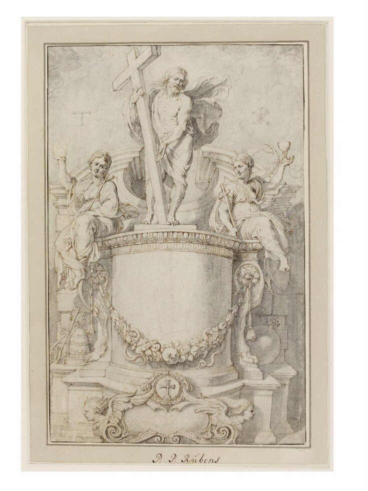 Design for the Title-Page for Giacomo Bosto, Crux Triumphans et Gloriosa top image