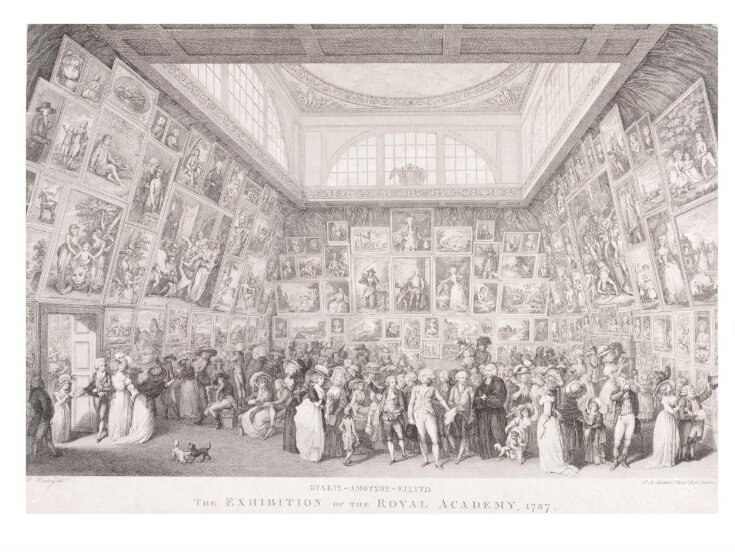 The Exhibition of the Royal Academy, 1787 top image