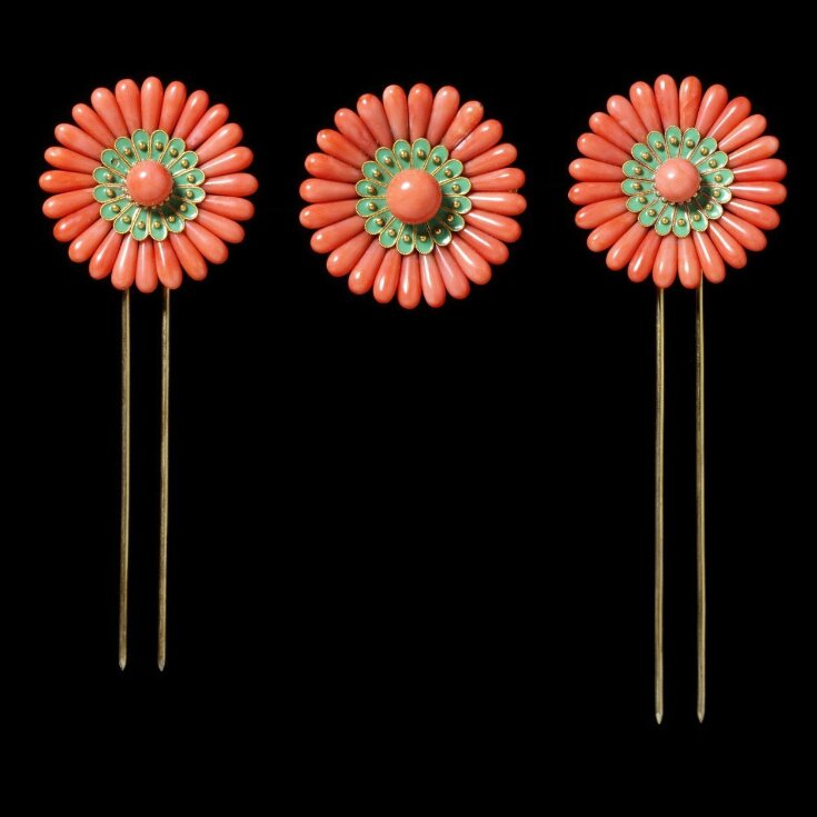 Brooch and Hair Ornaments in Case top image