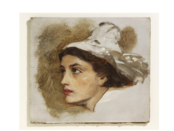 Head of a Welsh fishergirl top image