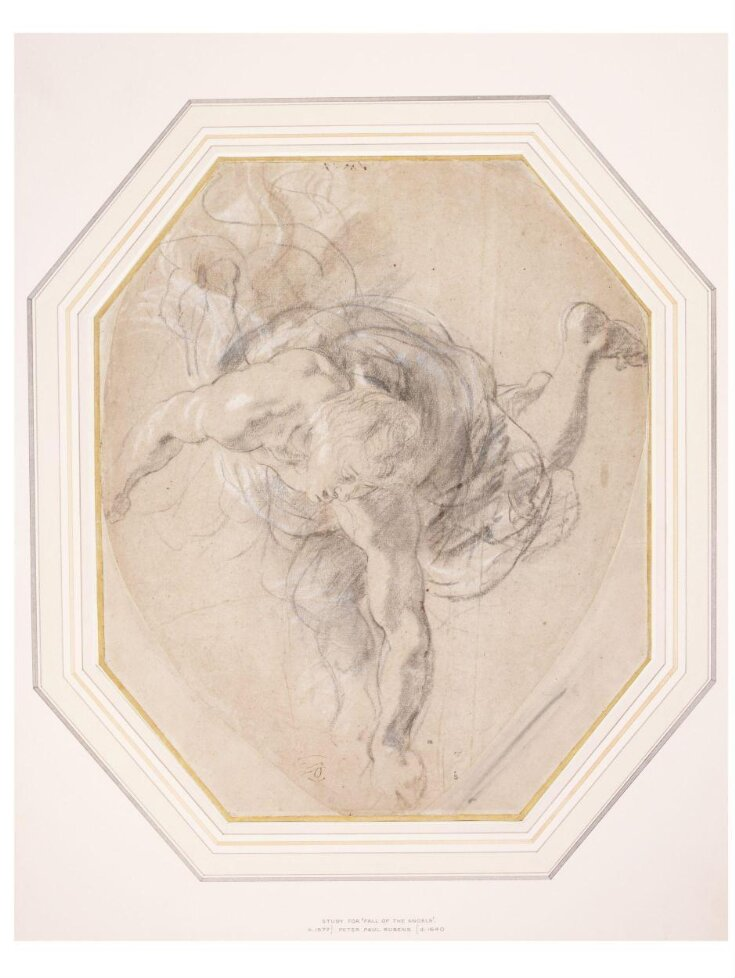 Study for a Male Figure Descending top image