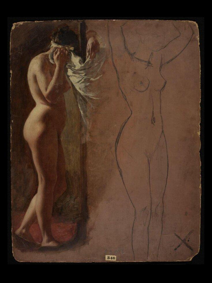 Study of a Nude Female Figure top image