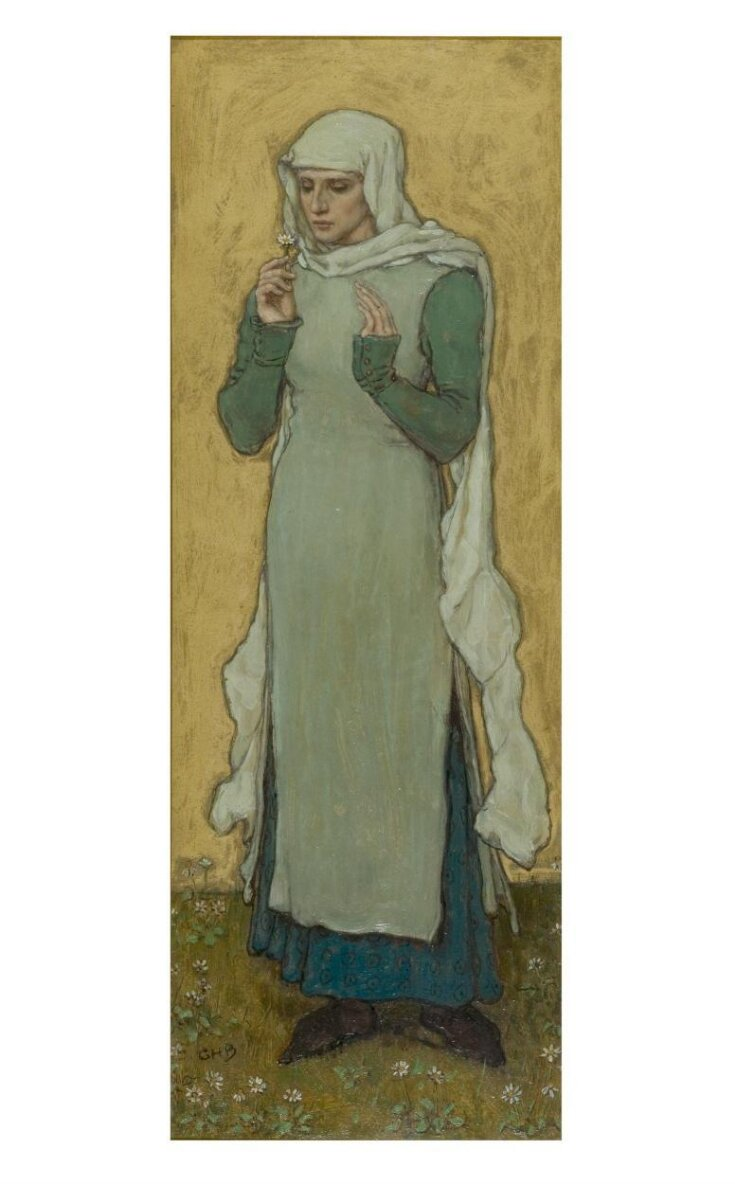 A woman holding a marguerite top image