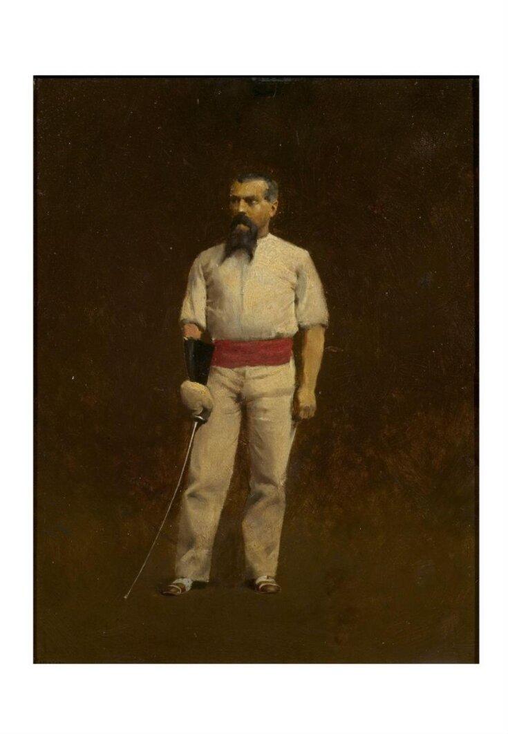 Sir Richard Burton dressed for fencing top image