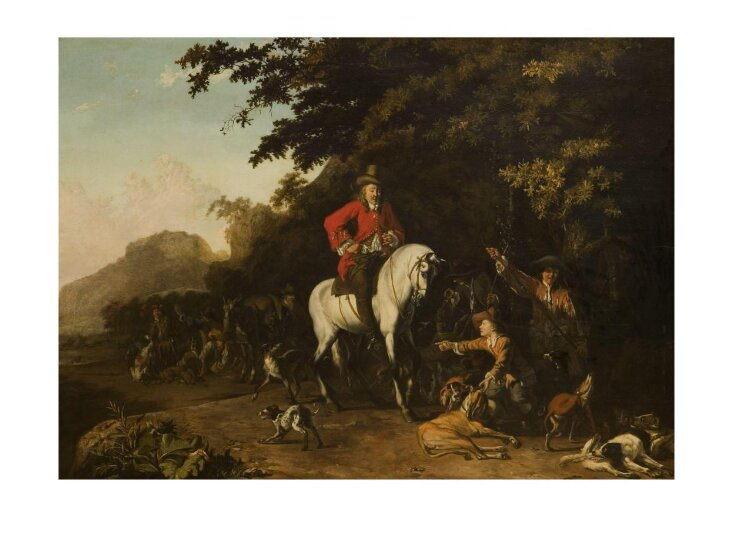 Huntsmen with dogs top image