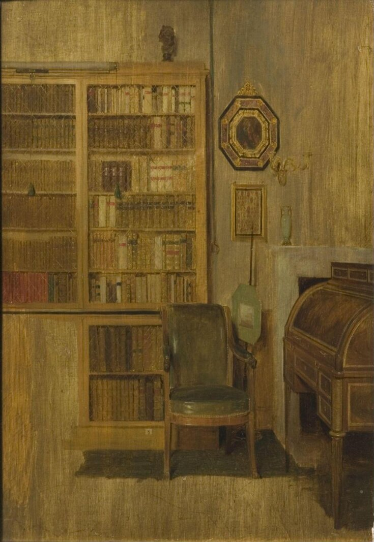 A Book Case (sketch for 'The Letter of Introduction') top image