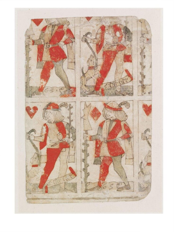 Part of an uncut sheet of playing cards top image