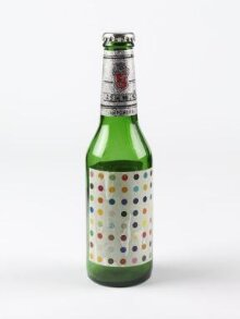 Bottle of Becks Beer with label designed by Damien Hirst thumbnail 1