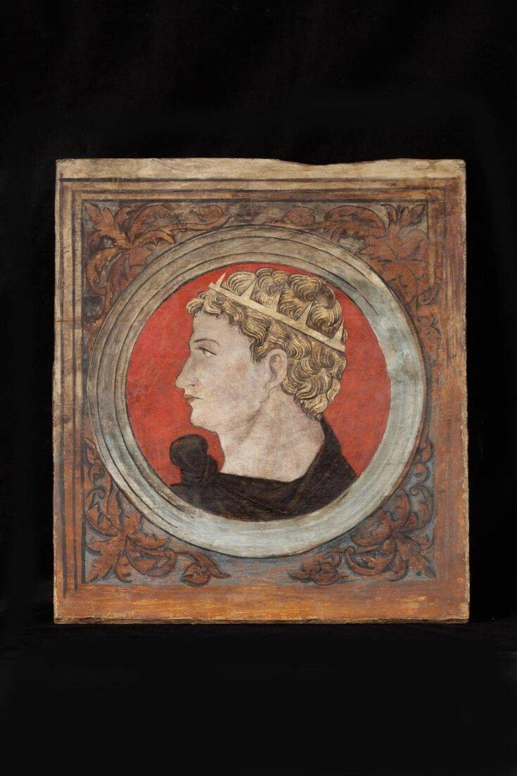Profile bust of a Roman emperor facing left top image