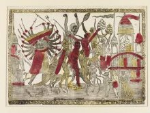 The fight between Rama and Ravana - a scene from the Ramayana thumbnail 1