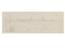 Recto: Panoramic View of Damme thumbnail 1