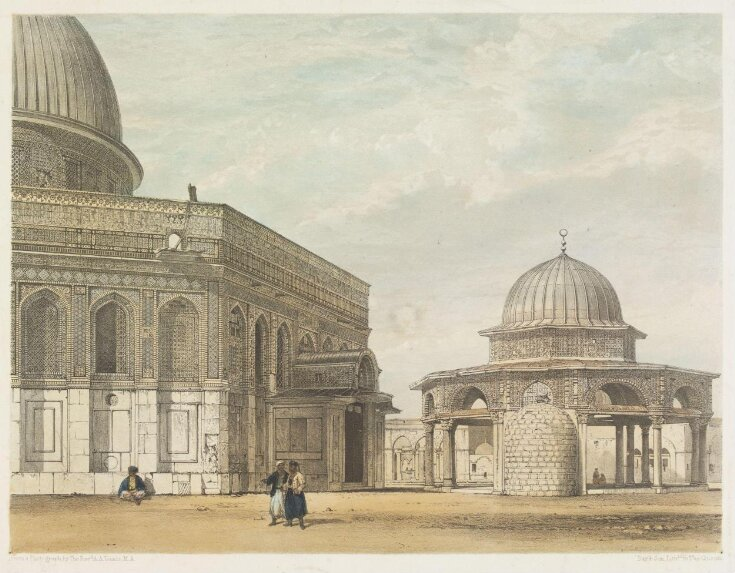 Four Views Of The Mosques And Other Objects of Interest Occupying The Site Of The Temple At Jerusalem top image