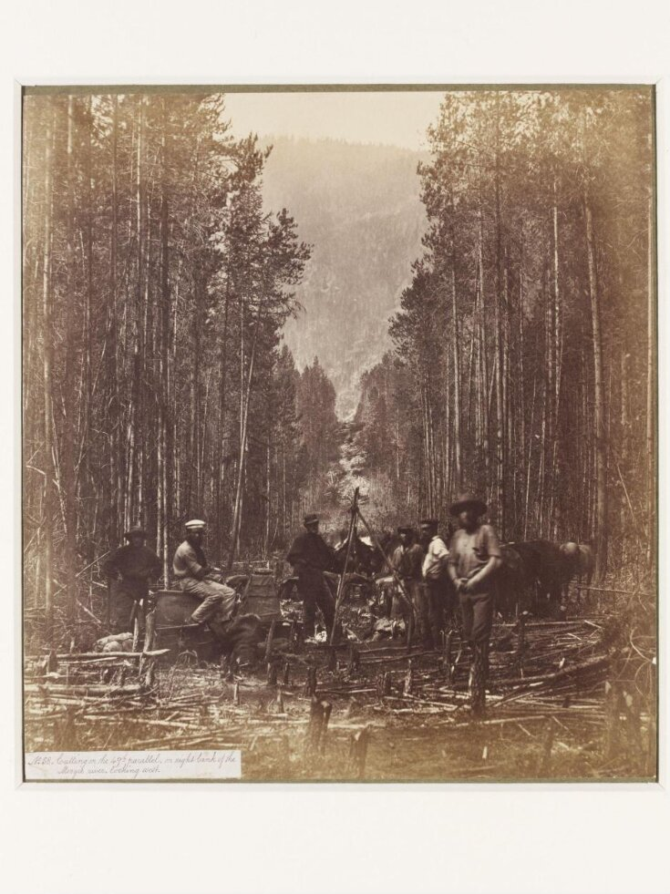 Cutting on the 49th Parallel, on the Right Bank of the Mooyie River Looking West top image