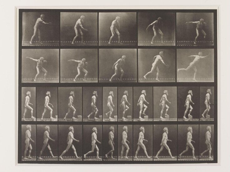 Man walking and throwing discus top image