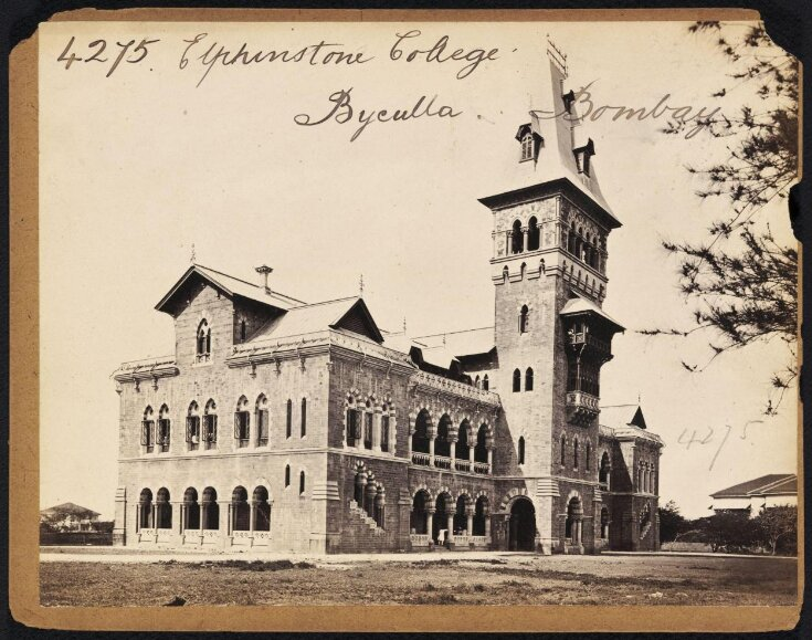 Elphinstone College.  Byculla.  Bombay top image