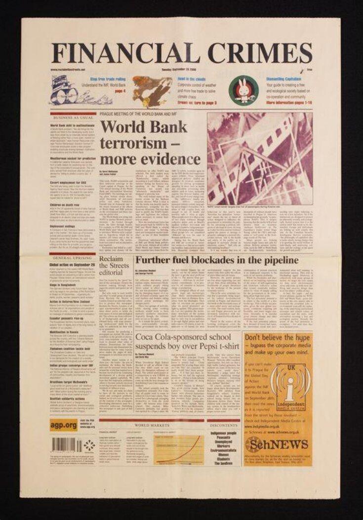 Financial Crimes newspaper top image