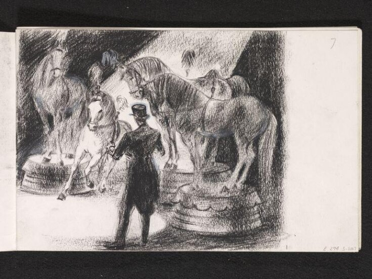 Circus tamer with horses top image