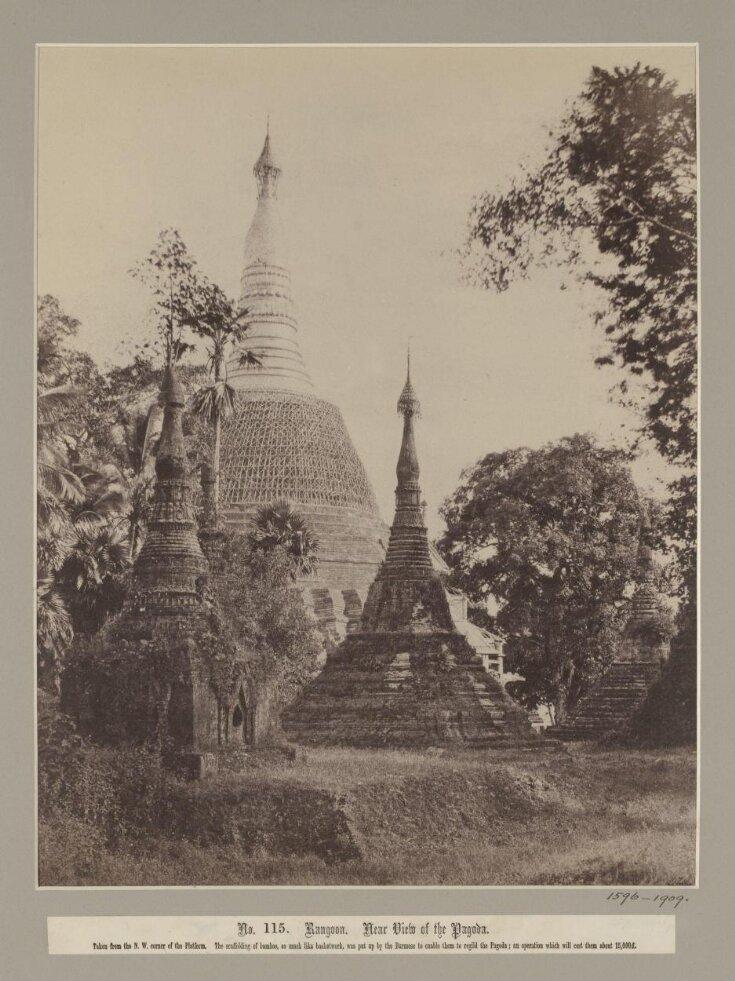 Near View of the Shwe-Dagon pagoda, Rangoon (Yangon) top image