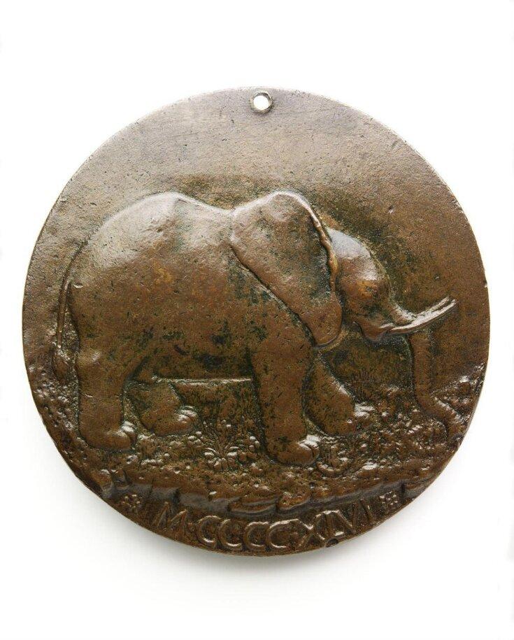 Portrait medal of Isotta degli Atti top image