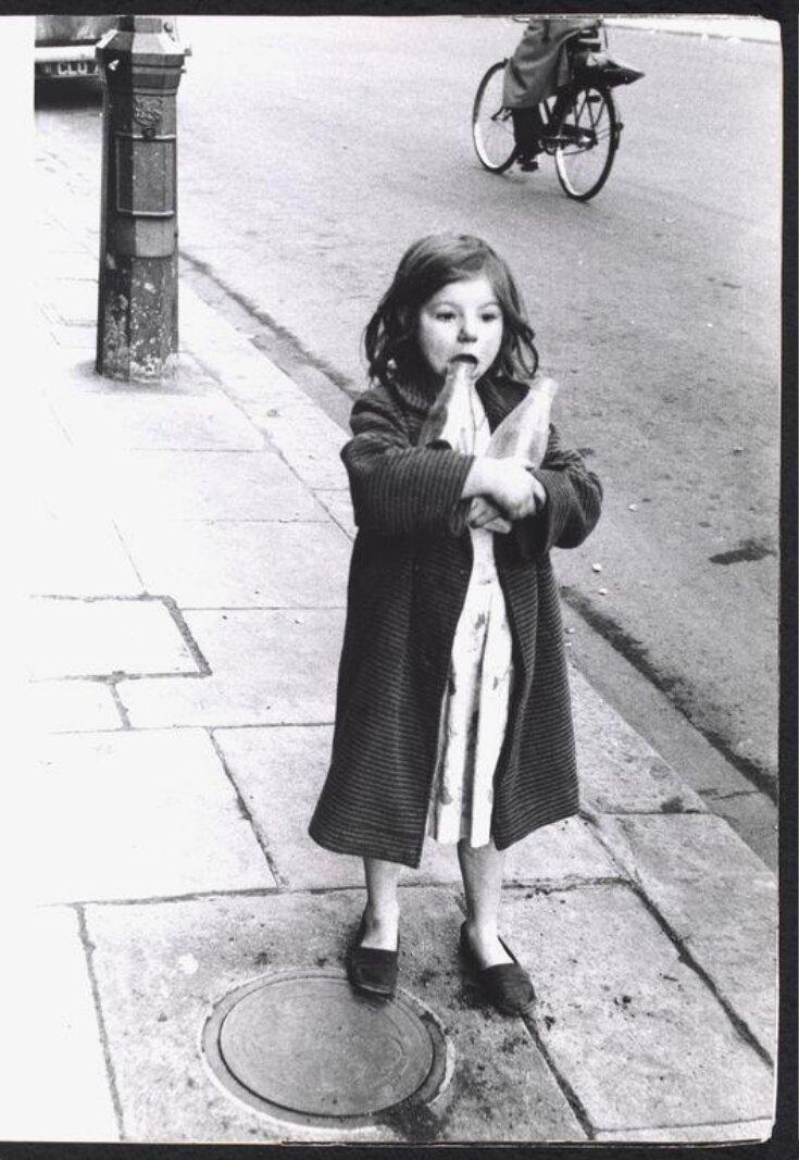 Girl and milk bottles, Princedale Road, November 30, 1958. top image