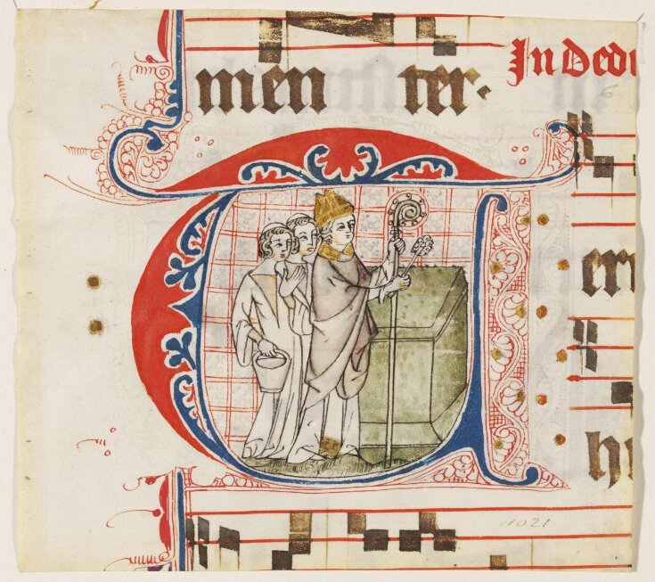 Historiated initial from a choirbook top image