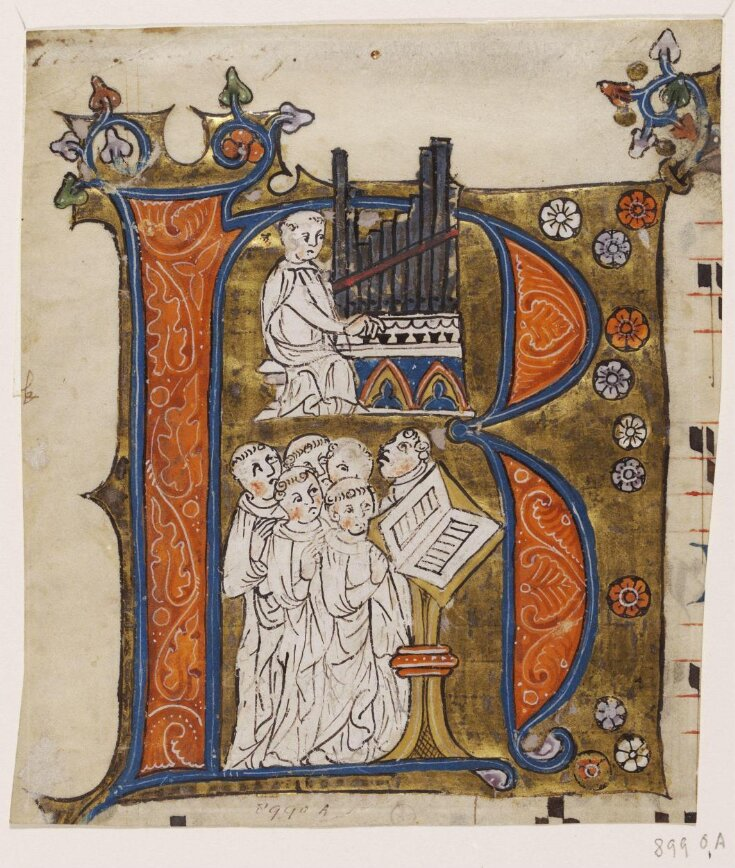 Historiated initial from a Cistercian Gradual top image