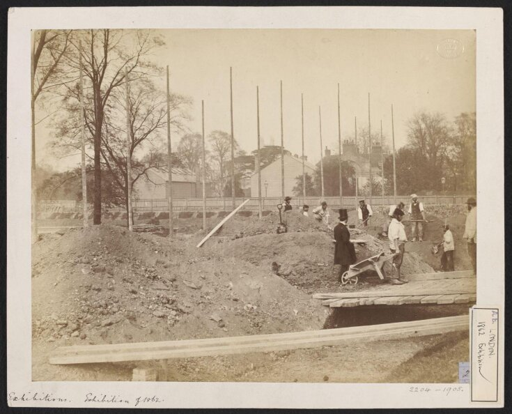 1862 International Exhibition, South Kensington, view of foundations under construction top image