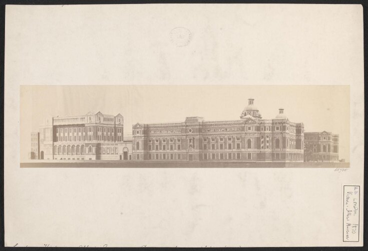 Model of the proposed South Kensington Museum buildings, completed according to the plans of Henry Scott, view from the south-west of the Exhibition Road and Cromwell Road facades top image