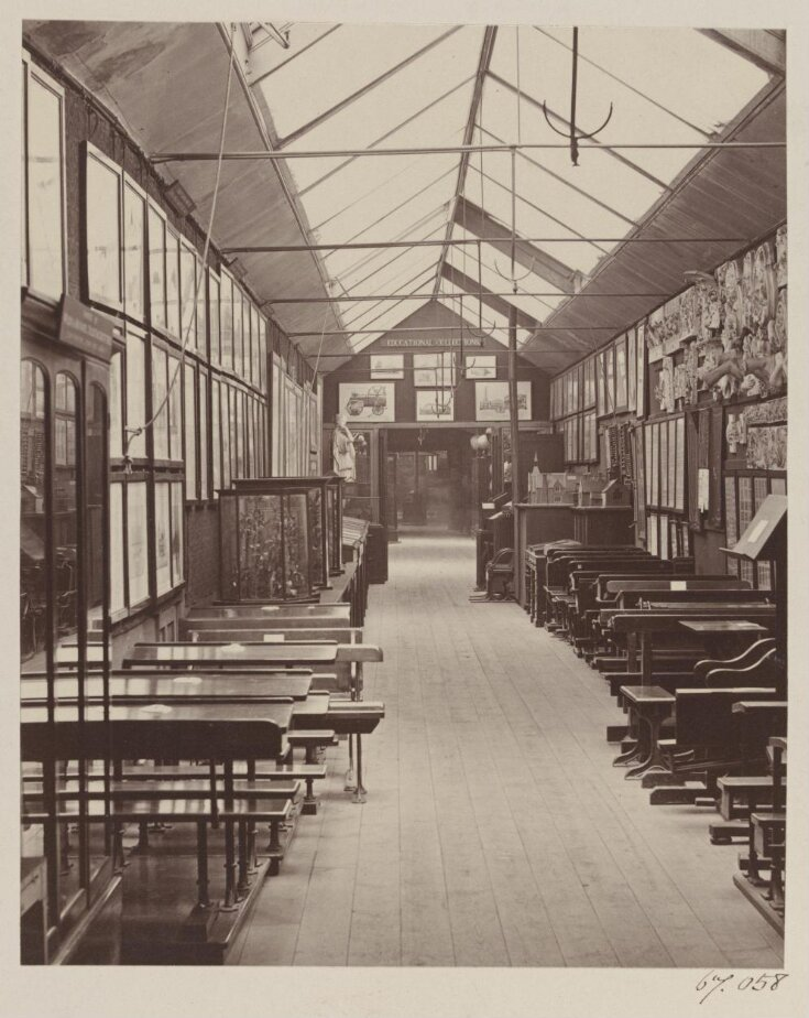 South Kensington Museum, Educational Collection(?), showing School Furniture and Apparatus top image