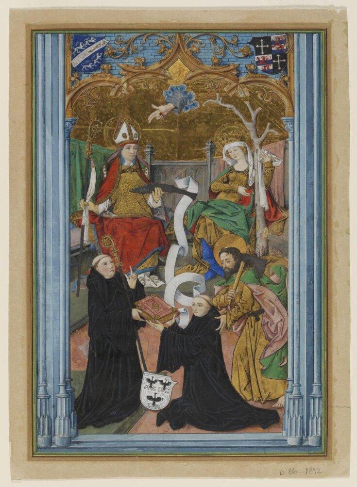 Frontispiece from the Giltlingen Psalter top image