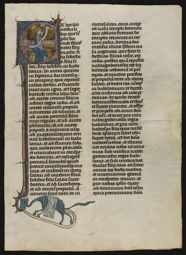 Leaf from the Hastière Bible top image