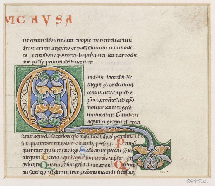 Initial from Gratian's Decretum top image