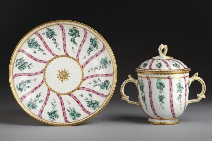 Caudle or Chocolate Cup, Cover and Saucer top image