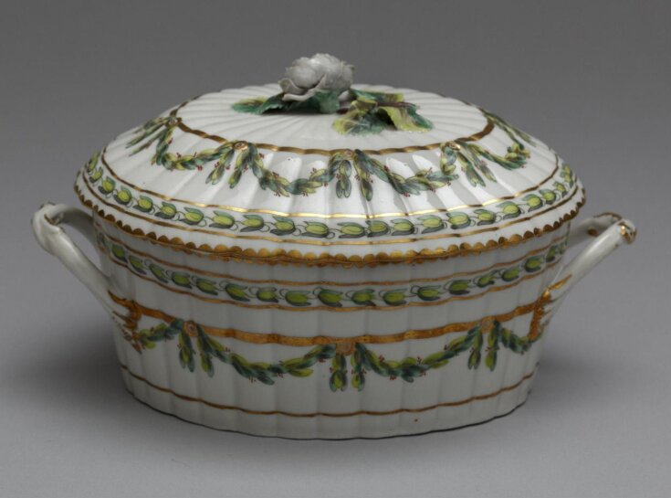 Sauce-Tureen With Cover and Stand top image