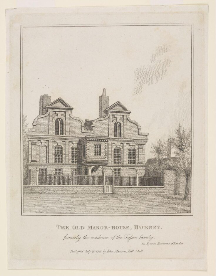 The Old Manor House, Hackney, formerly the residence of the Tyssen family top image