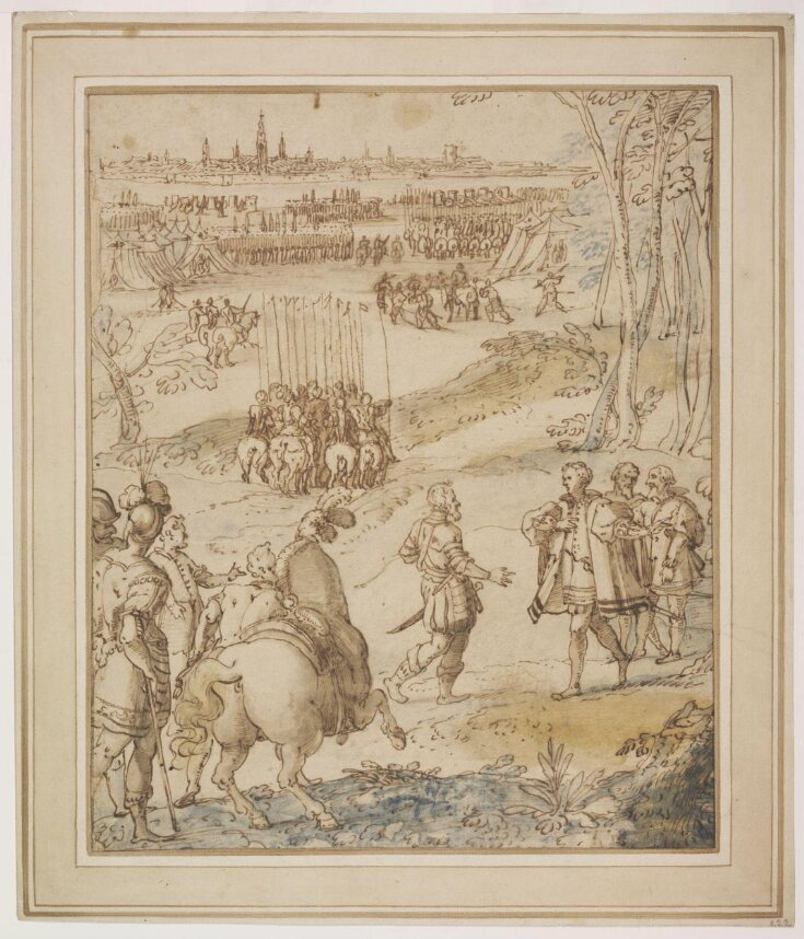 Alessandro Farnese Receiving the Surrender of the City of Antwerp in 1585 top image