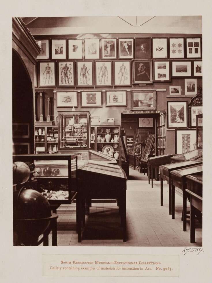 South Kensington Museum - Educational Collections.  Gallery containing examples of materials for iInstruction in Art top image
