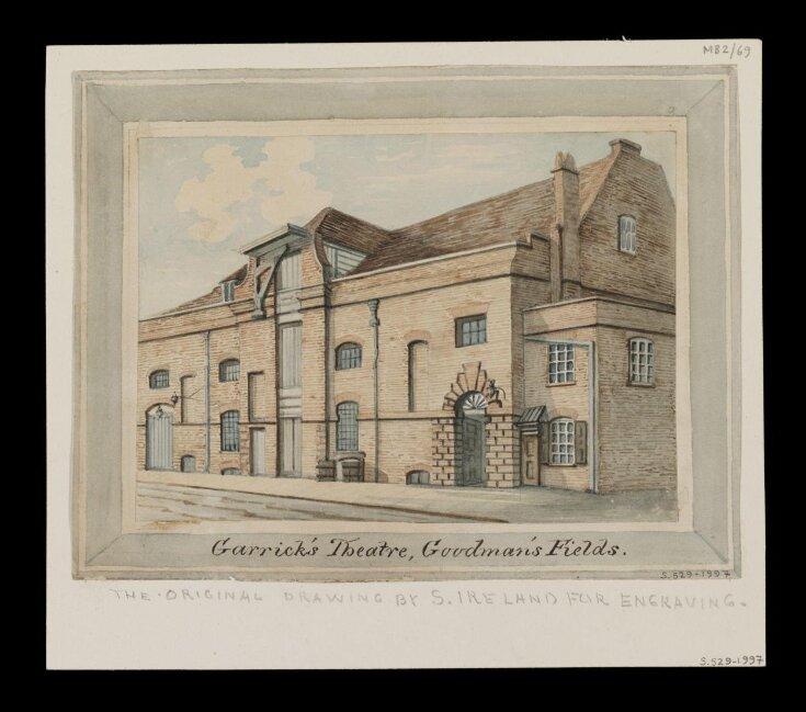 Garrick's Theatre, Goodman's Fields. top image