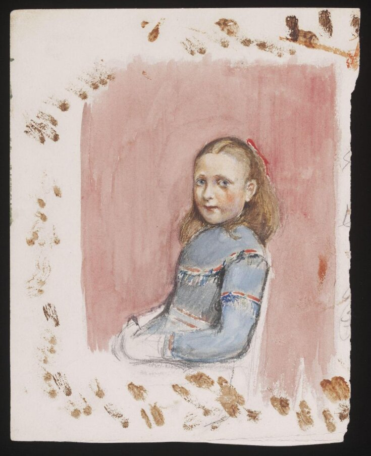 A Young Girl Seated, [perhaps Annie Susan, known as Poppie,  the daughter of the artist] top image