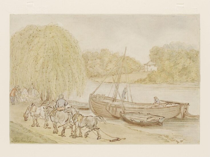 Scene on a Thames-side towing-path top image