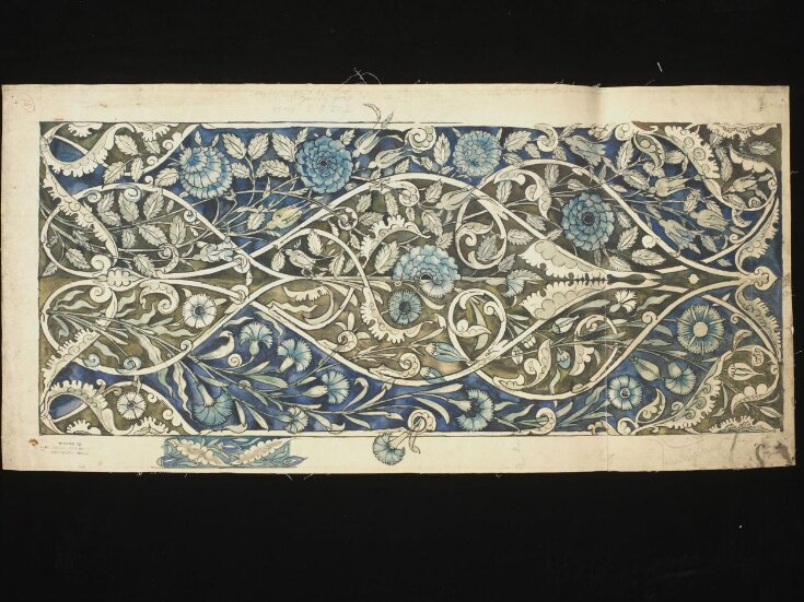 Design, probably for a tile panel. Persian foliage pattern. top image